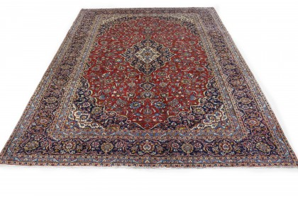 Traditional Vintage Rug Kashan in 410x300