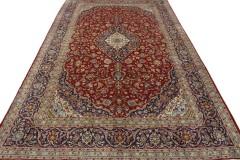 Klassischer Vintage-Teppich Kashan in 470x290