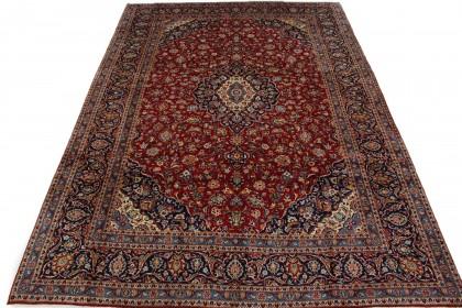 Traditional Vintage Rug Kashan in 420x300