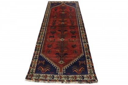 Traditional Vintage Rug Shiraz Runner in 290x100