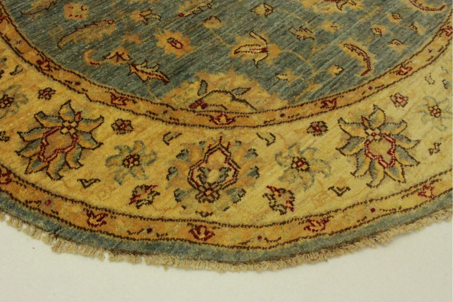 sebra teppich rund blau wundersch ner runder h kelteppich. Black Bedroom Furniture Sets. Home Design Ideas