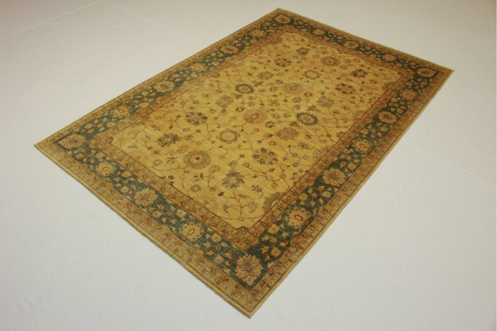 ziegler teppich beige blau in 280x190 5001 611 bei kaufen. Black Bedroom Furniture Sets. Home Design Ideas