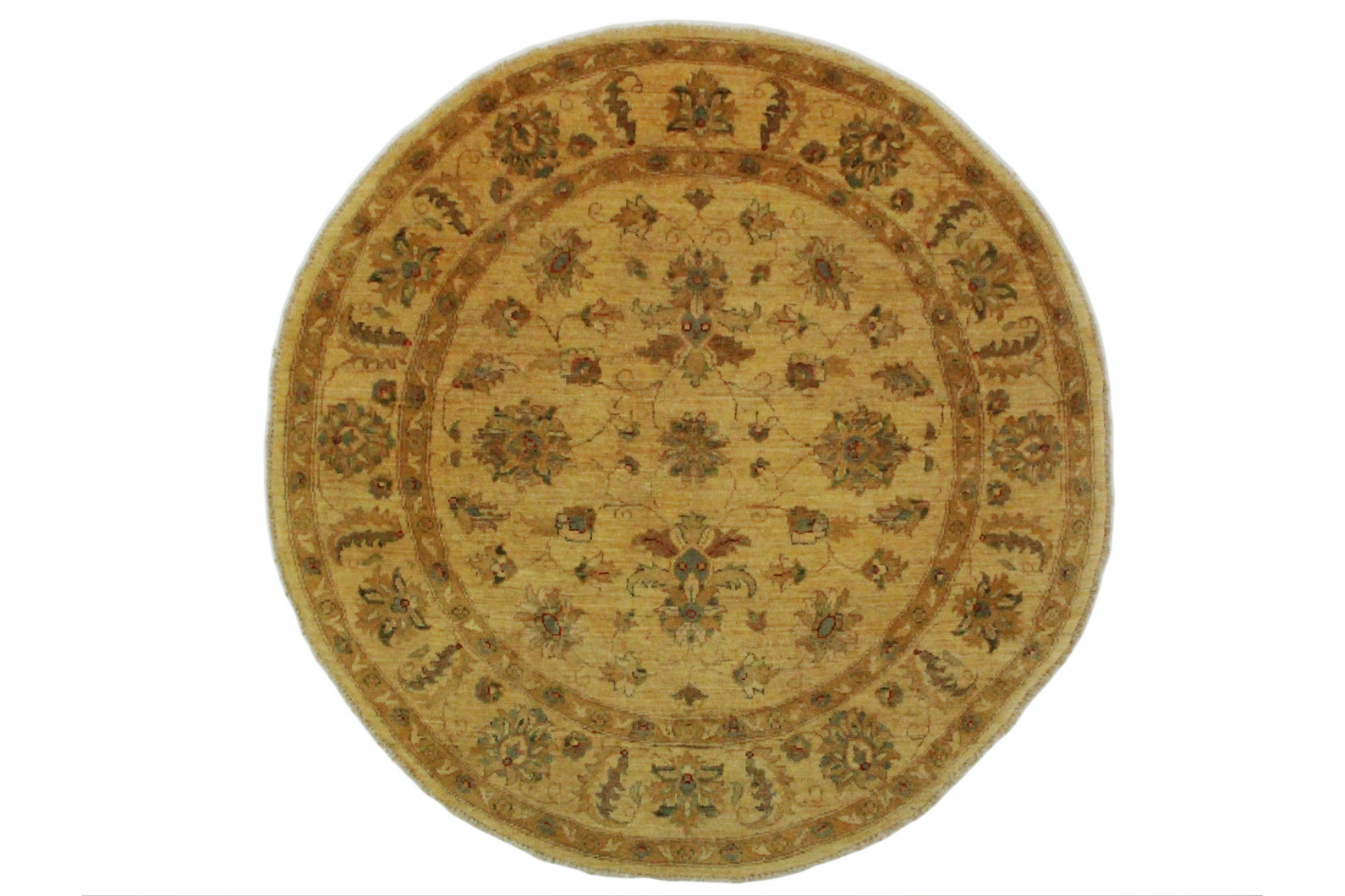 ziegler teppich rund beige braun in 150x150cm 5001 692 bei kaufen. Black Bedroom Furniture Sets. Home Design Ideas