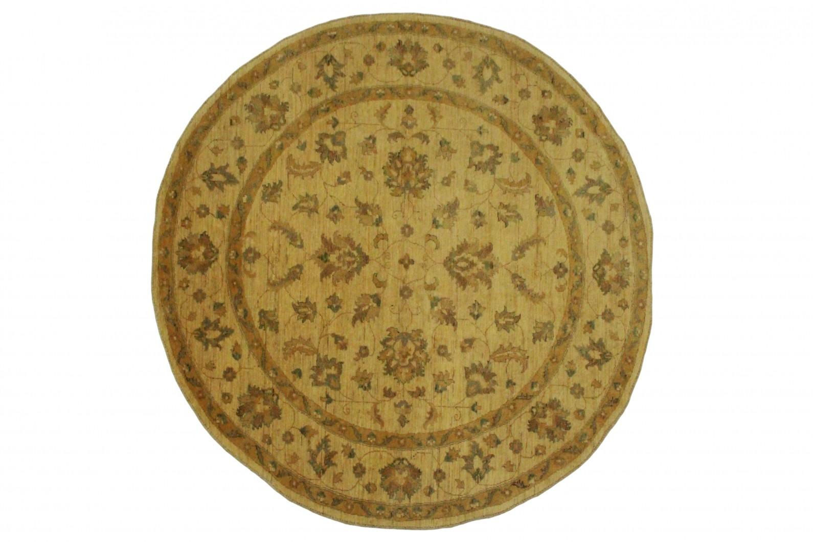 ziegler teppich rund beige in 200x200cm 5001 698. Black Bedroom Furniture Sets. Home Design Ideas