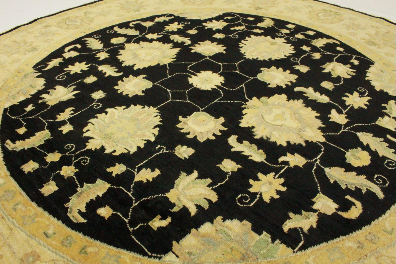 ziegler teppich rund schwarz in 210x210cm 5001 702 bei kaufen. Black Bedroom Furniture Sets. Home Design Ideas