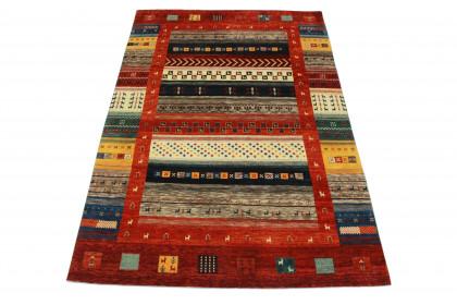Loribaft Designer-Teppich Rot in 300x200 5110-2820