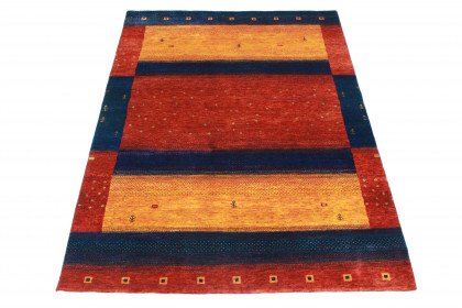 Loribaft Designer-Teppich Rot Blau Orange in 200x140 5110-2954