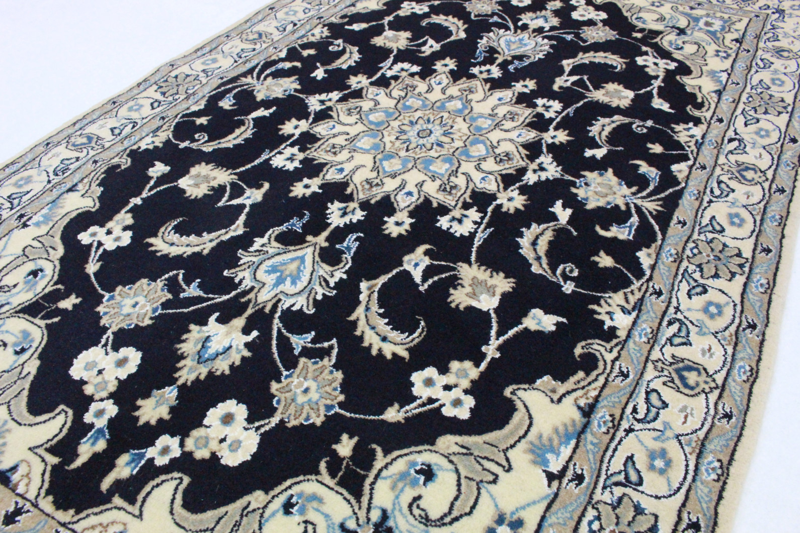 nain teppich beige blau in 200x120 5120 22032 bei kaufen. Black Bedroom Furniture Sets. Home Design Ideas