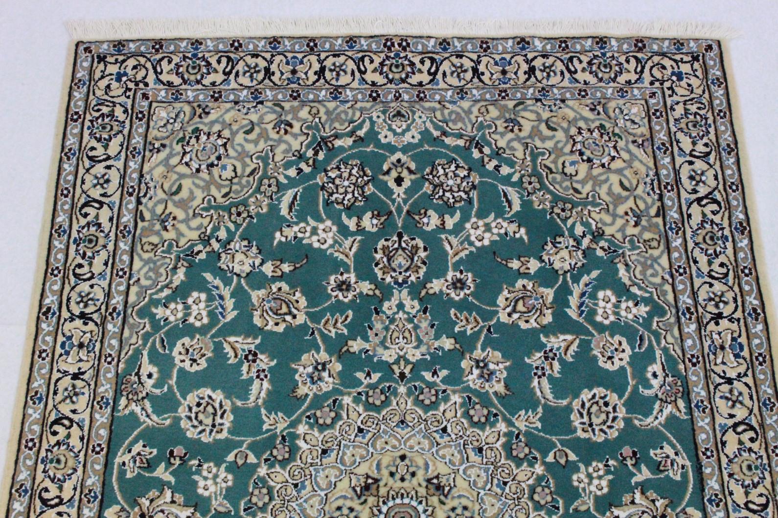 Orientteppich türkis  Nain Teppich Beige Blau Türkis in 150x110 (5120-23477) bei ...