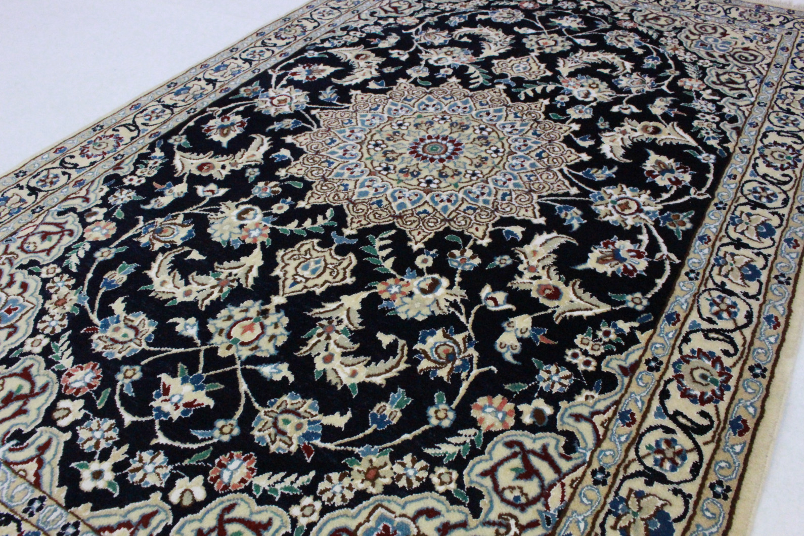 nain teppich beige blau in 180x120 5120 25998 bei kaufen. Black Bedroom Furniture Sets. Home Design Ideas