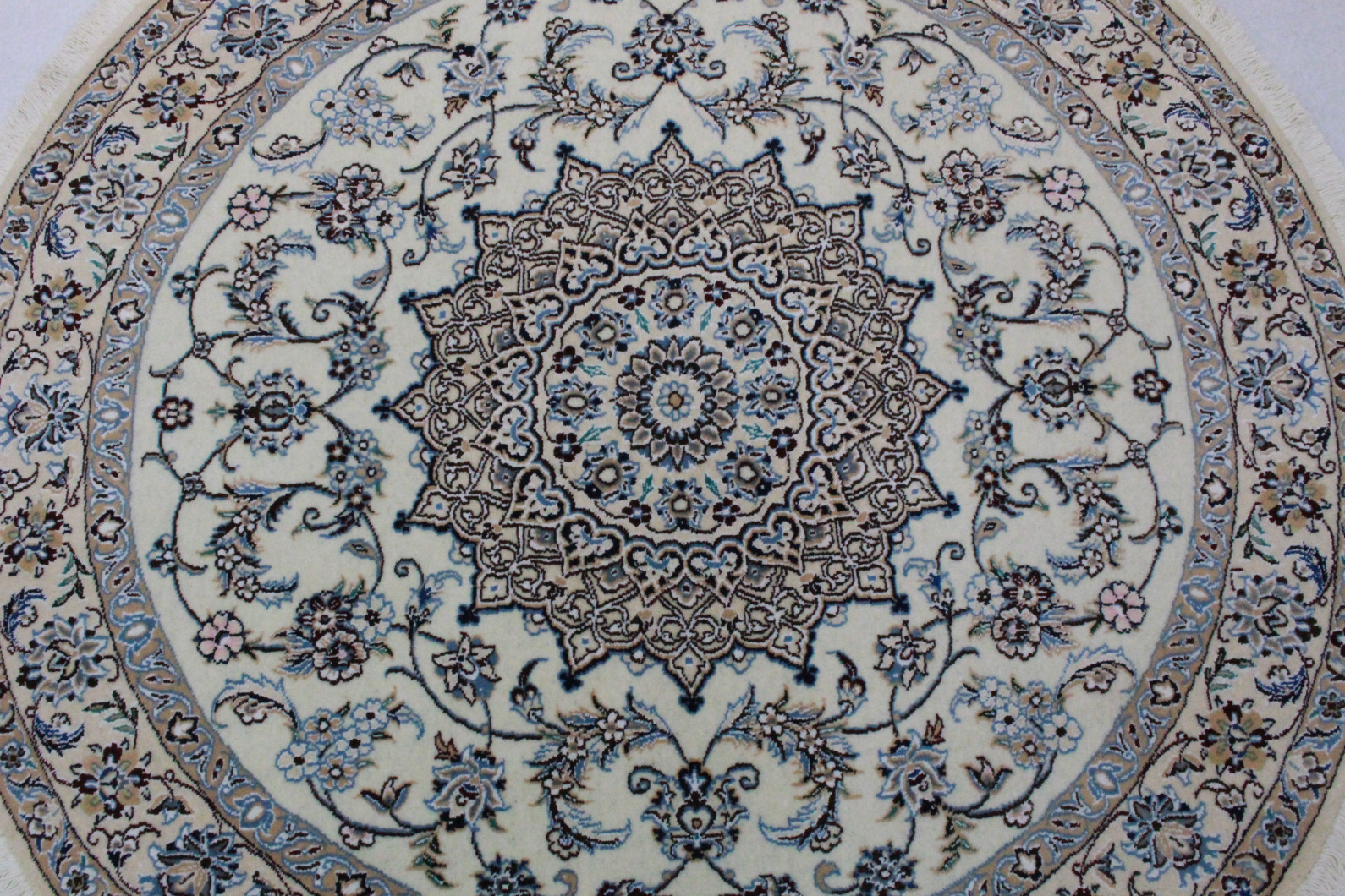 nain teppich rund beige blau in 150x150 5120 26649 bei kaufen. Black Bedroom Furniture Sets. Home Design Ideas