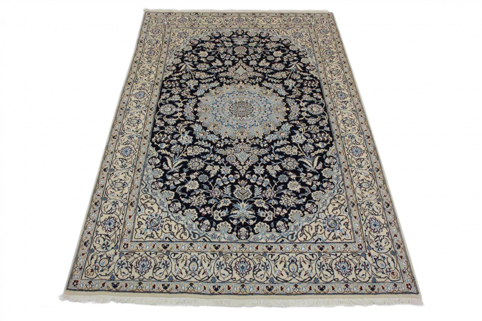 Nain teppich beige blau in bei carpetido