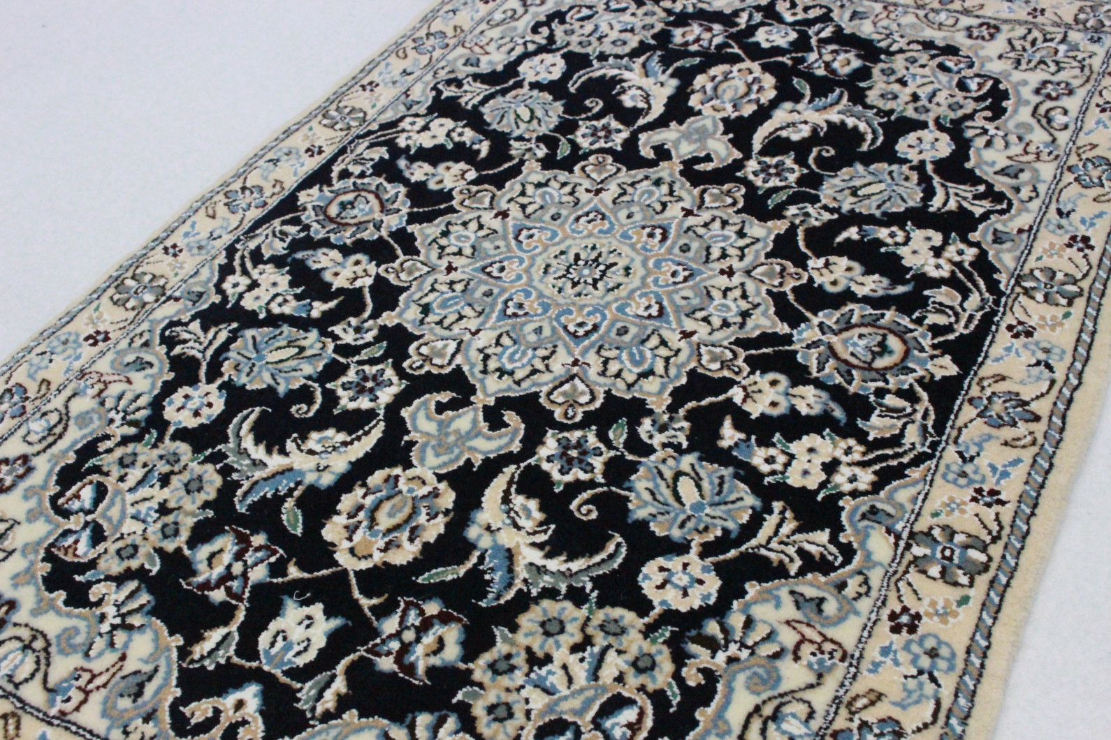 Nain teppich  Nain Teppich Beige Blau in 100x60 (5120-27436) bei carpetido.de kaufen