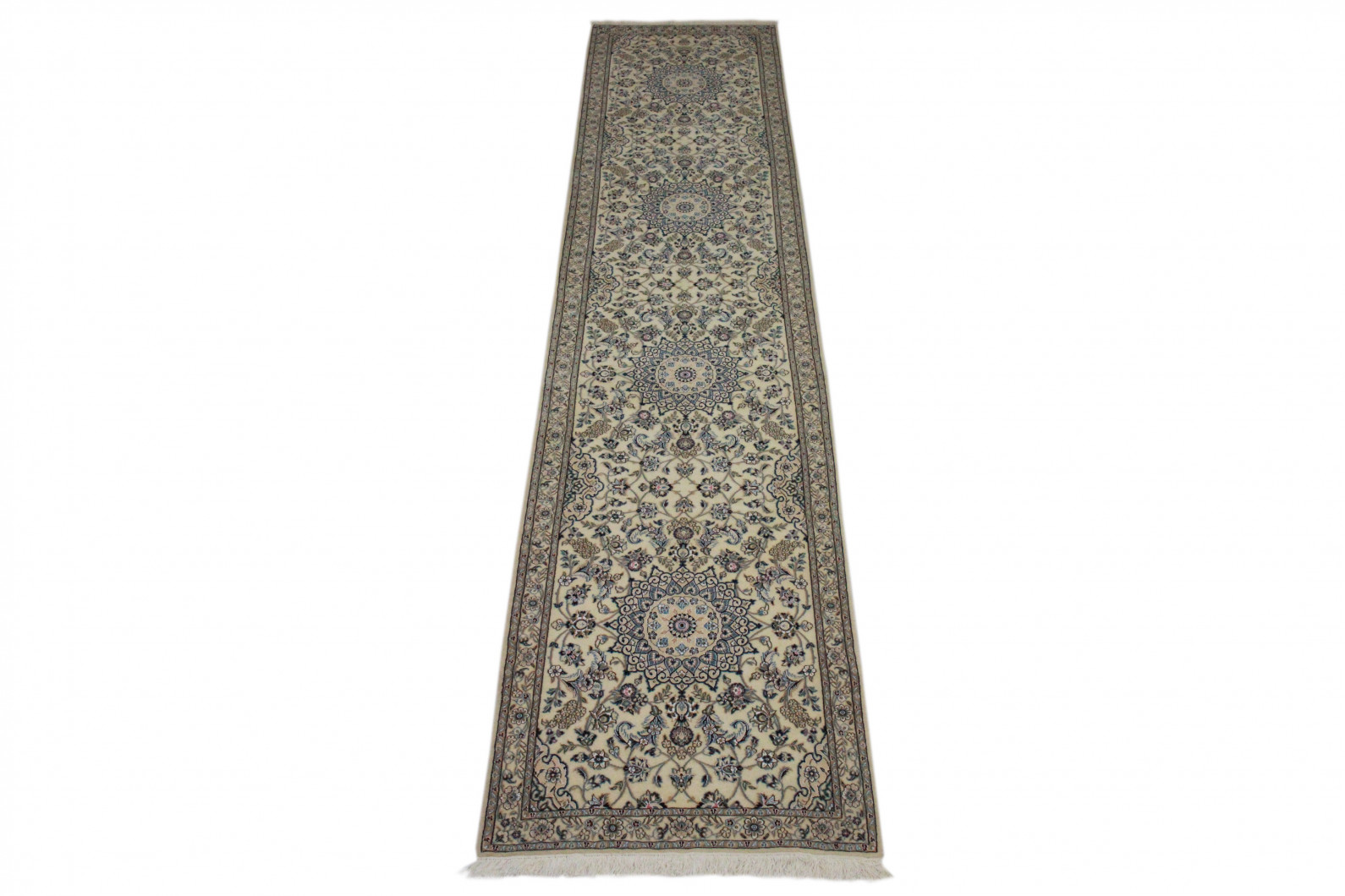 nain teppich beige blau in 420x90 5120 27464 bei kaufen. Black Bedroom Furniture Sets. Home Design Ideas