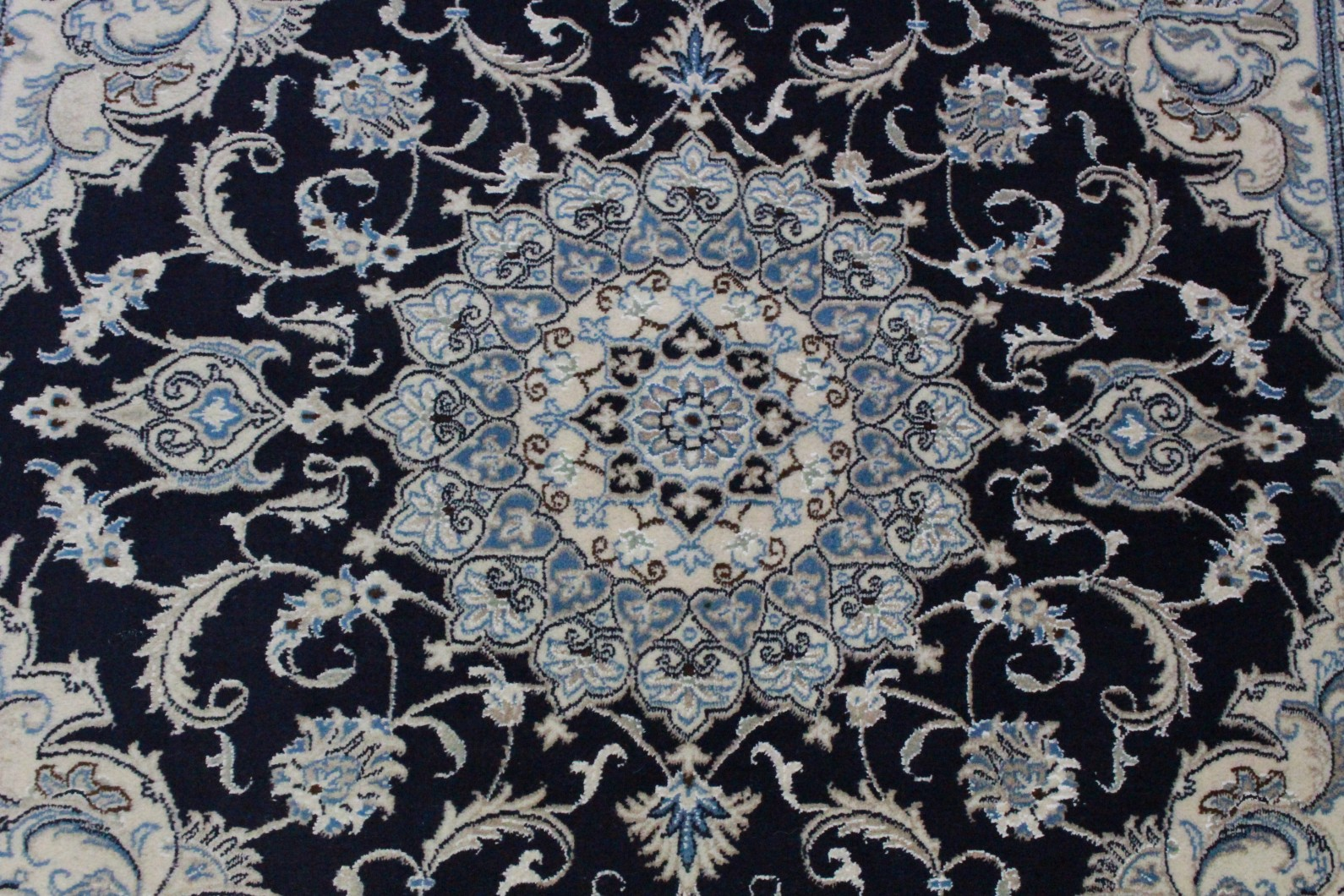 nain teppich beige blau in 210x190 5120 58123 bei kaufen. Black Bedroom Furniture Sets. Home Design Ideas