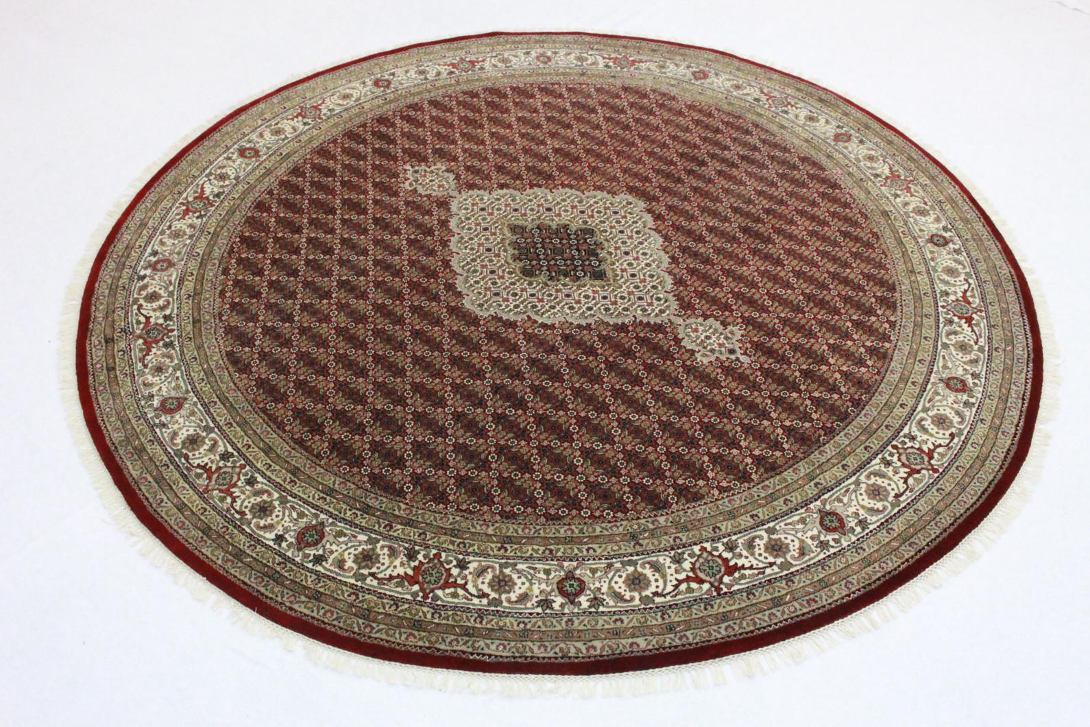 teppich rund beige rot in 250x240 5130 26921 bei kaufen. Black Bedroom Furniture Sets. Home Design Ideas