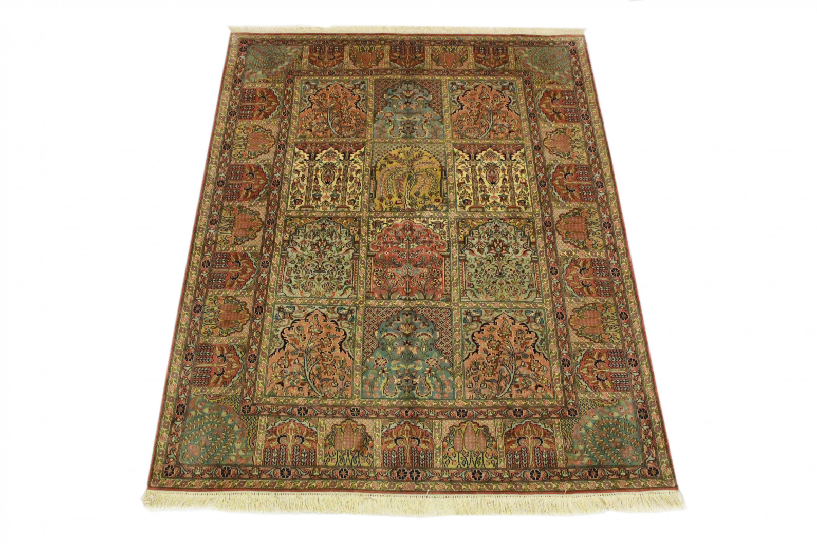 Silk Rug Beige Blue In 210x160 5140 21 Buy Online At