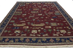 Traditional Vintage Rug Kilim in 380x260