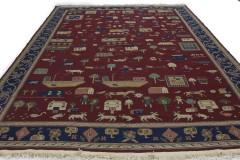 Klassischer Vintage-Teppich Kelim in 380x260