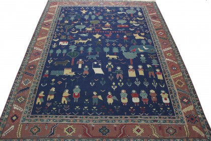 Klassischer Vintage-Teppich Kelim in 360x280