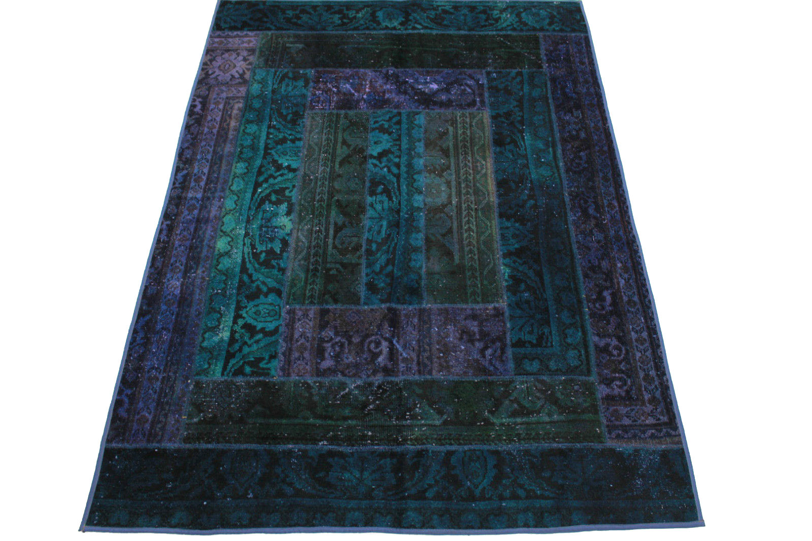 Patchwork Rug Purple Turquoise In 240x170cm 1001 1395