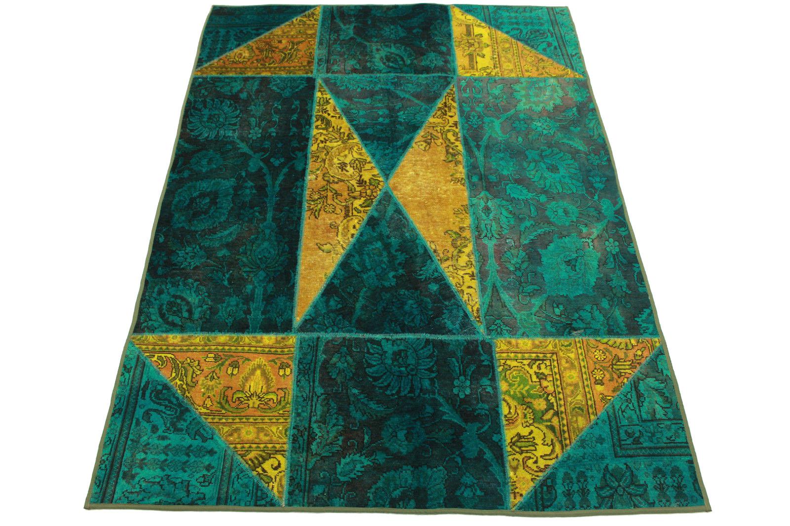 patchwork teppich t rkis curry in 240x170cm 1001 1438 bei kaufen. Black Bedroom Furniture Sets. Home Design Ideas