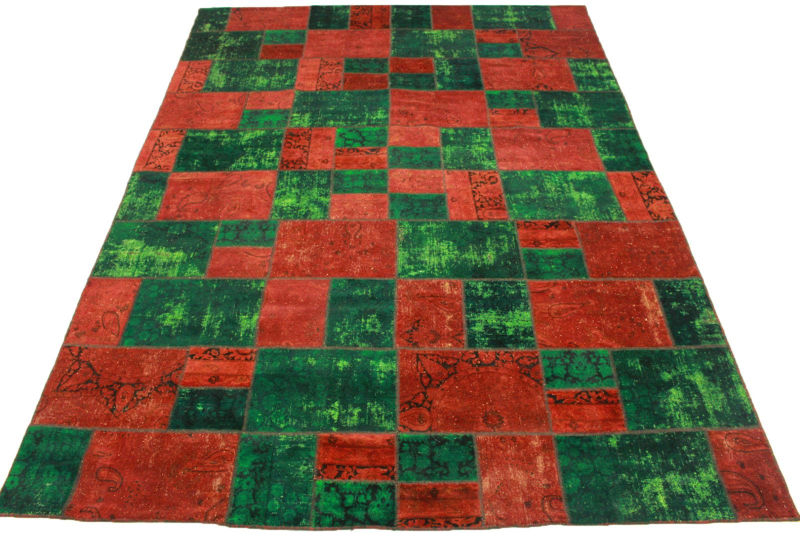 patchwork teppich gr n rot in 400x300cm 1001 1845 bei kaufen. Black Bedroom Furniture Sets. Home Design Ideas
