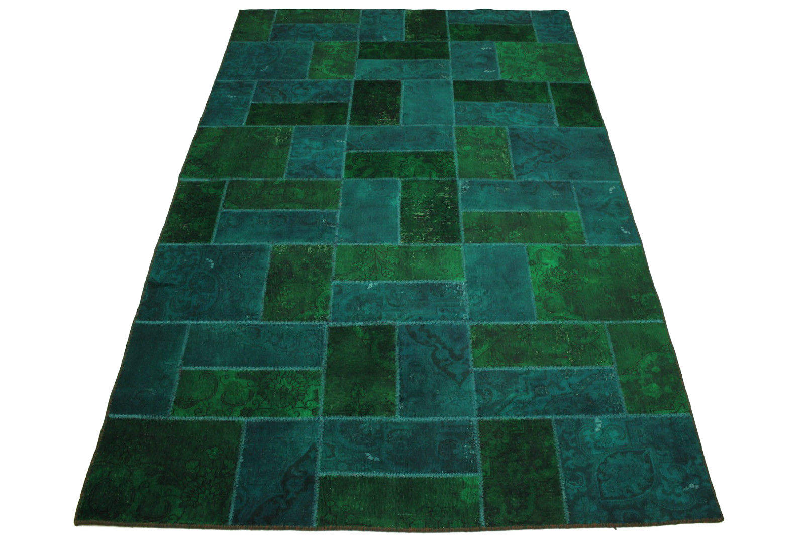 patchwork teppich gr n t rkis in 310x200cm 1001 1856 bei kaufen. Black Bedroom Furniture Sets. Home Design Ideas