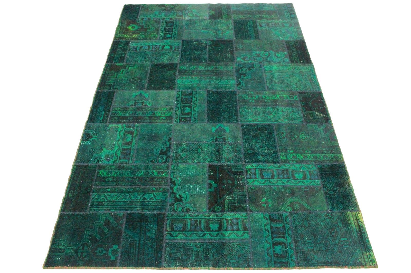 Orientteppich türkis  Patchwork Teppich Grün Türkis in 310x190cm (1001-1861) bei ...