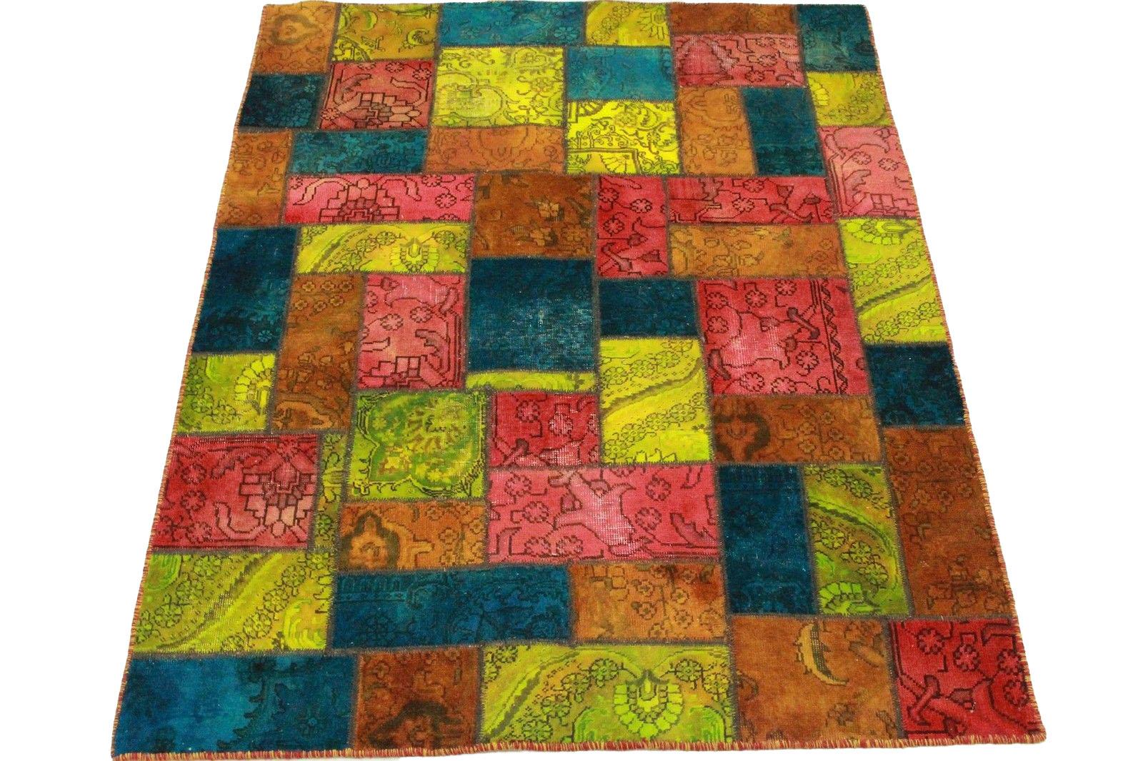 patchwork teppich rot blau pink in 200x150cm 1001 1976 bei kaufen. Black Bedroom Furniture Sets. Home Design Ideas
