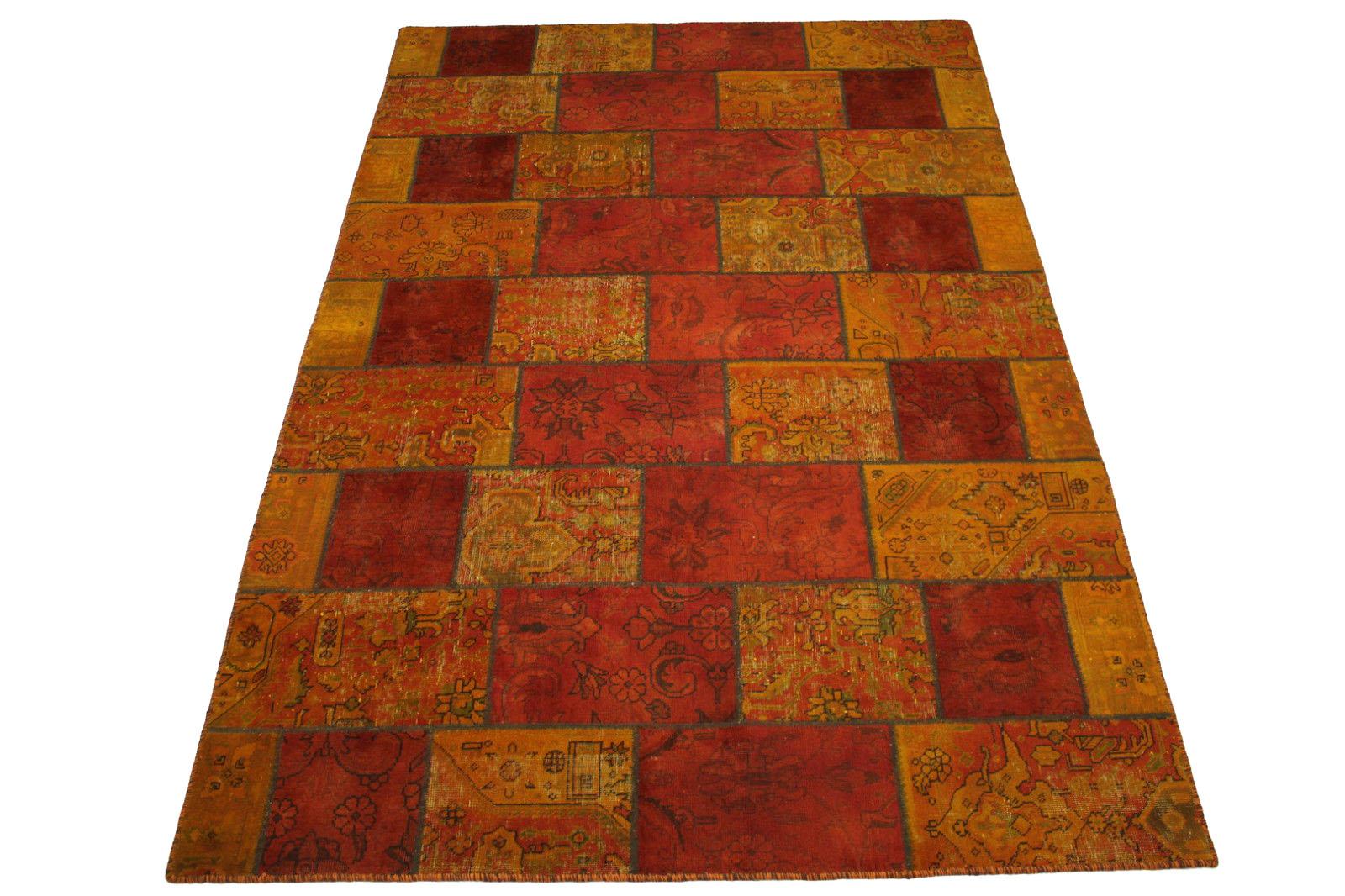 patchwork teppich orange rot in 300x200cm 1001 2008 bei kaufen. Black Bedroom Furniture Sets. Home Design Ideas