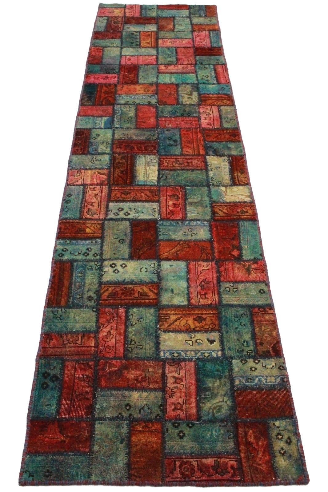 patchwork teppich rot blau in 310x80cm 1001 2061 bei kaufen. Black Bedroom Furniture Sets. Home Design Ideas