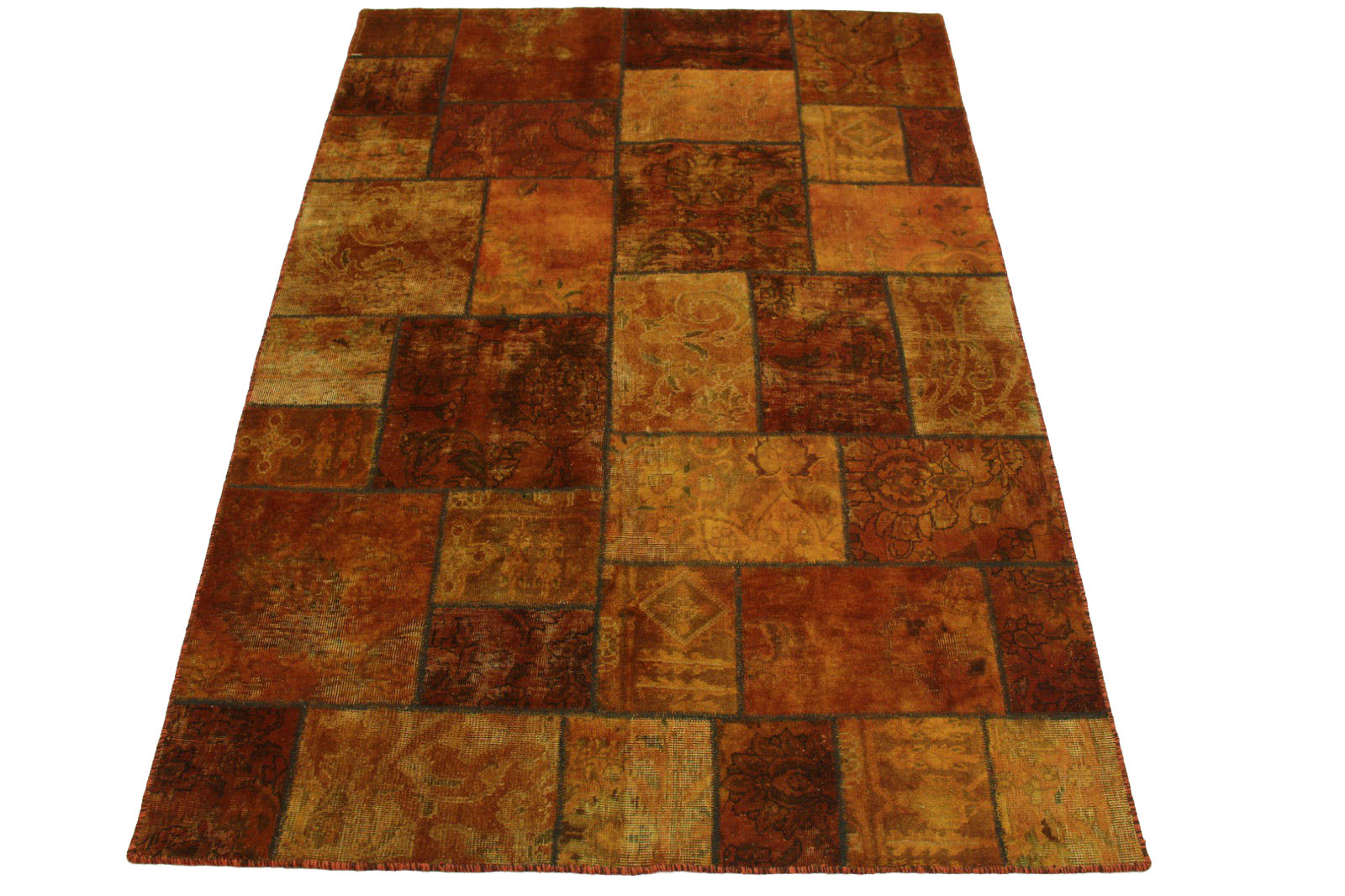 Patchwork Teppich Orange Braun In 240x170cm 1001 2092