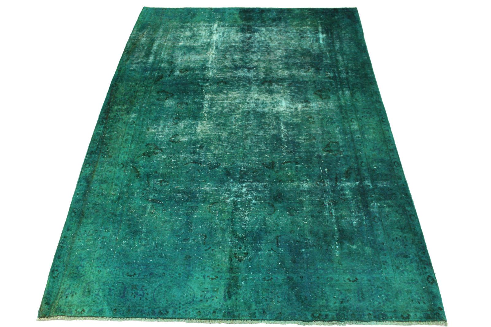 vintage teppich t rkis in 270x190cm 1001 2419 bei kaufen. Black Bedroom Furniture Sets. Home Design Ideas