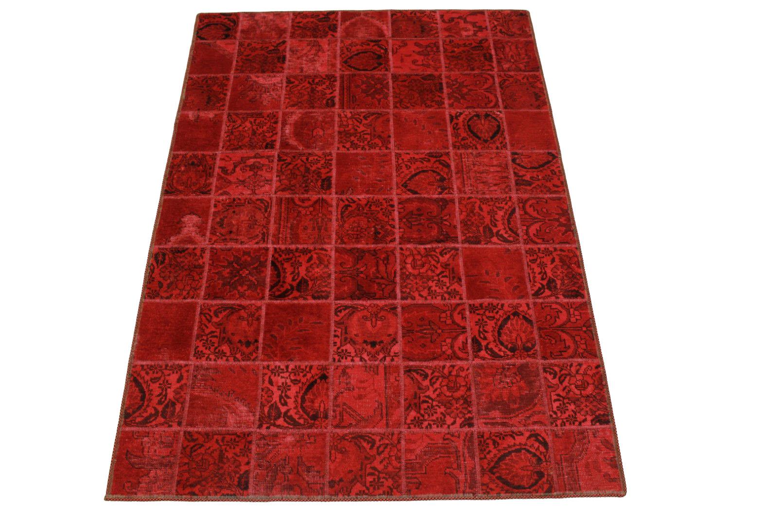 patchwork teppich rot in 200x140cm 1001 2542 bei kaufen. Black Bedroom Furniture Sets. Home Design Ideas