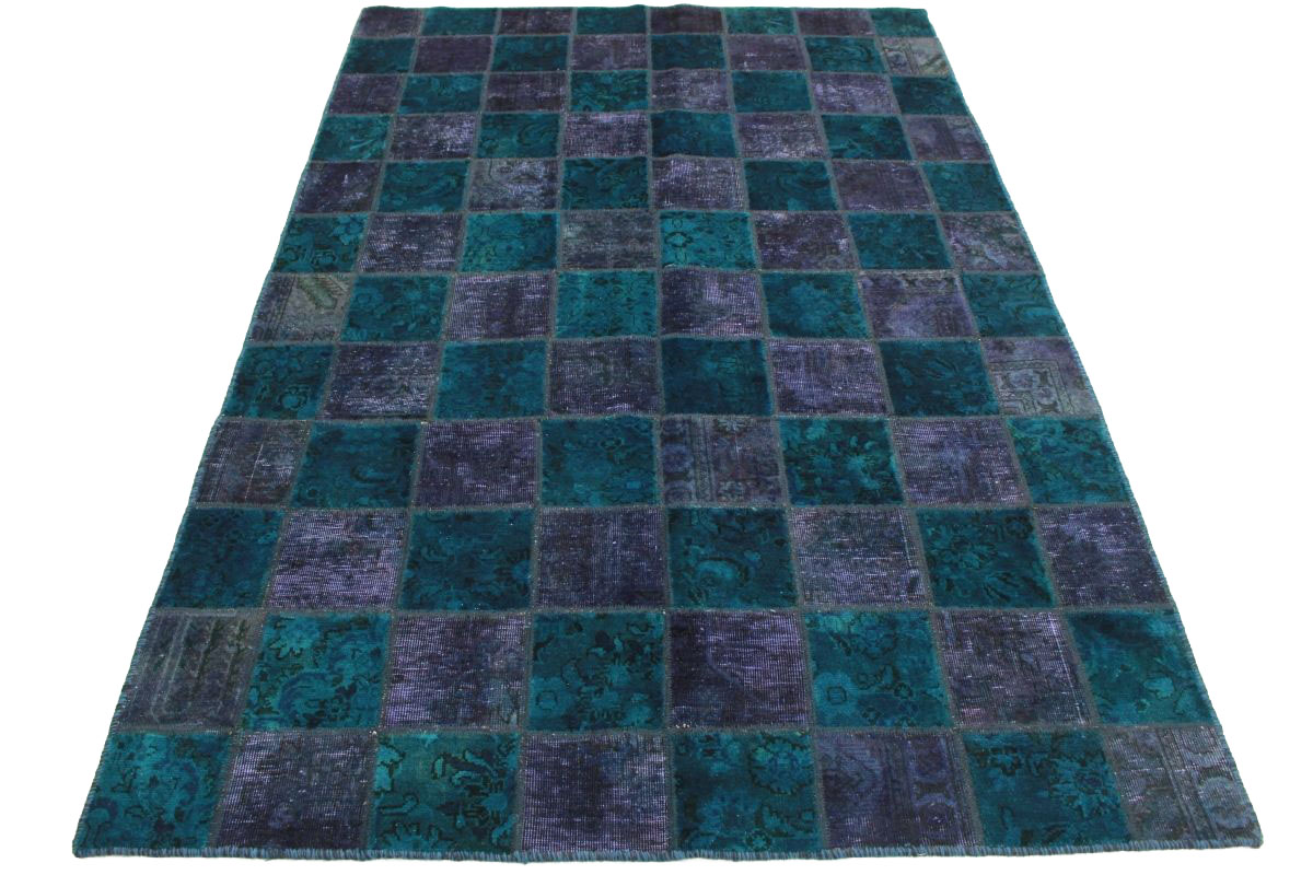 patchwork teppich lila blau in 240x160cm 1001 2560 bei kaufen. Black Bedroom Furniture Sets. Home Design Ideas