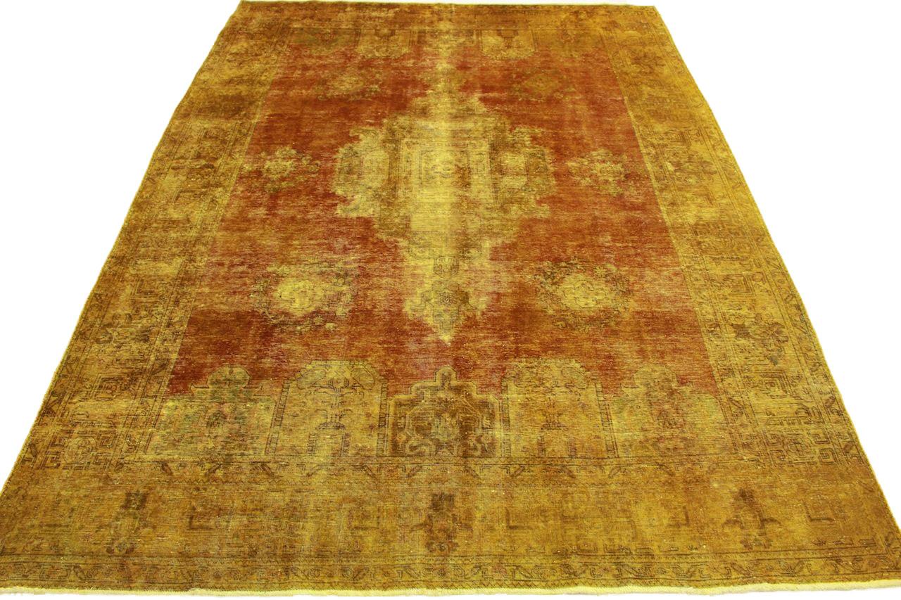 Vintage Teppich Orange Gold in 400x290cm (10012694) bei