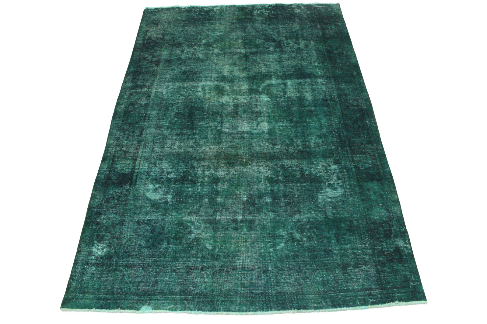 vintage teppich gr n t rkis in 310x200cm 1001 2731 bei kaufen. Black Bedroom Furniture Sets. Home Design Ideas