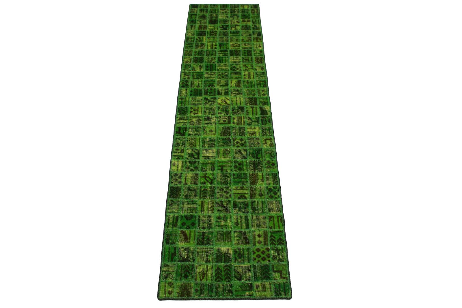 patchwork teppich gr n in 300x70cm 1001 2965 bei kaufen. Black Bedroom Furniture Sets. Home Design Ideas