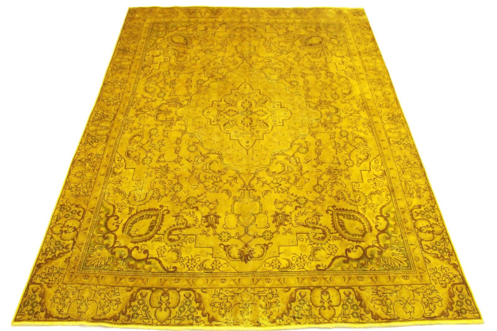 vintage teppich gold in 360x270cm 1001 3209. Black Bedroom Furniture Sets. Home Design Ideas