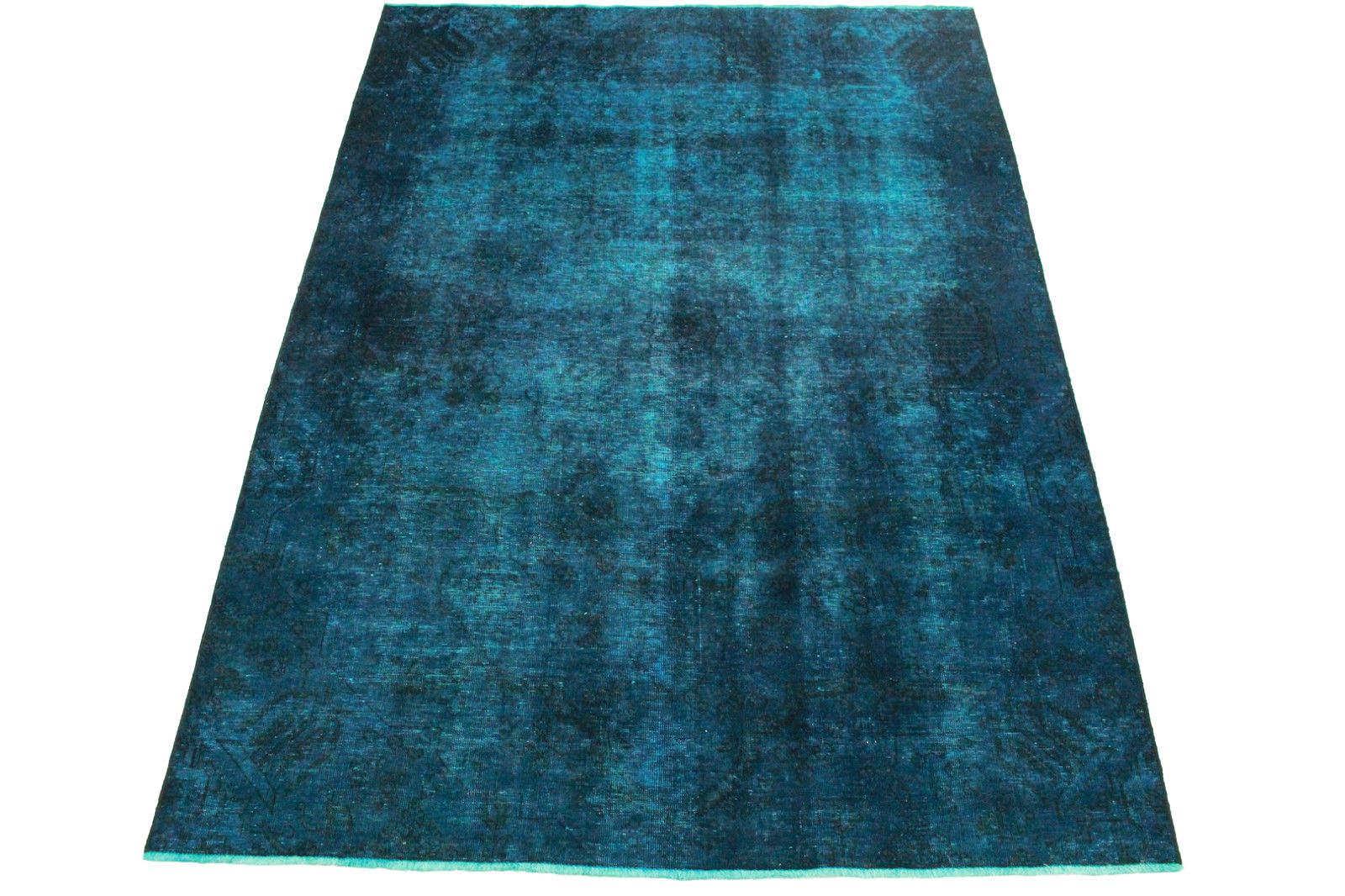 vintage teppich blau in 290x200cm 1001 3245 bei
