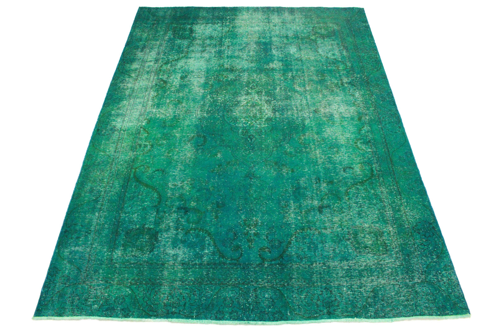 vintage teppich t rkis in 360x260cm 1001 3263 bei kaufen. Black Bedroom Furniture Sets. Home Design Ideas