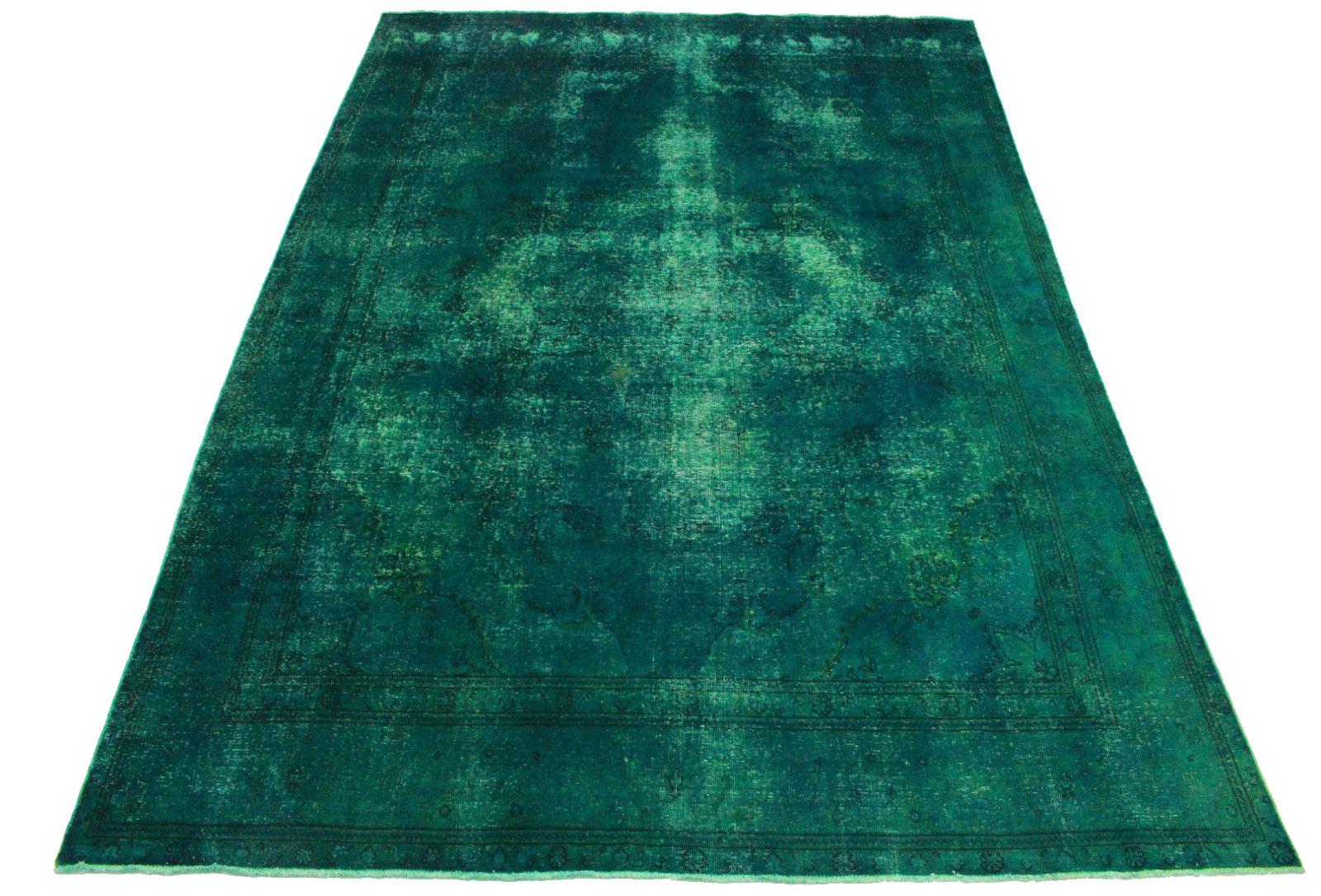 vintage teppich t rkis in 400x280cm 1001 3340 bei kaufen. Black Bedroom Furniture Sets. Home Design Ideas