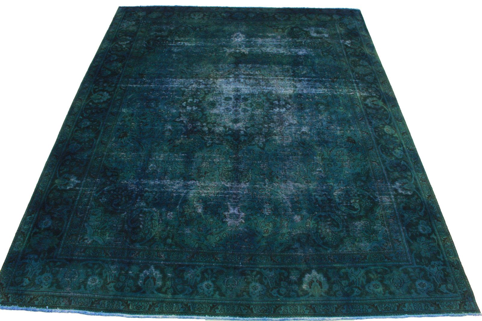 vintage teppich blau t rkis in 380x300cm 1001 5036 bei kaufen. Black Bedroom Furniture Sets. Home Design Ideas