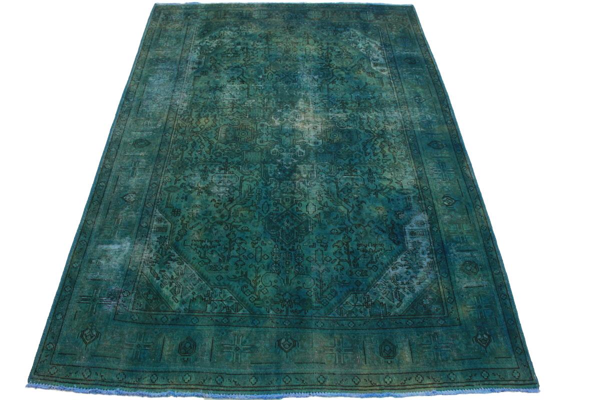 vintage teppich t rkis in 300x200cm 1001 5039 bei kaufen. Black Bedroom Furniture Sets. Home Design Ideas