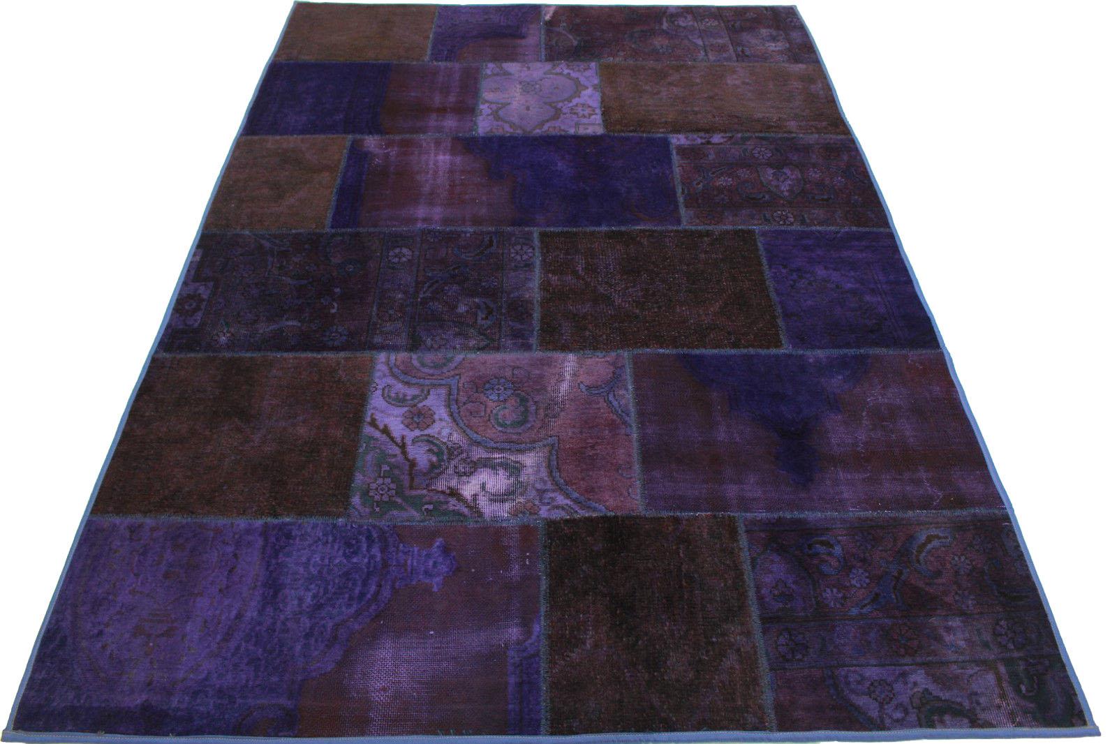patchwork teppich lila in 250x170cm 1001 921 bei kaufen. Black Bedroom Furniture Sets. Home Design Ideas
