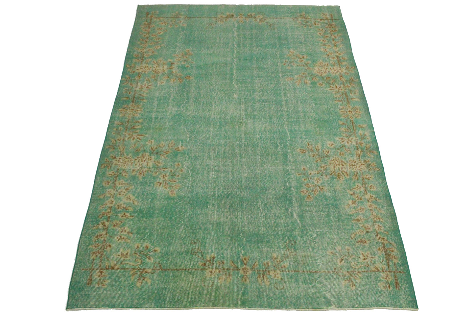 vintage teppich gr n t rkis in 310x200cm 1011 5128 bei kaufen. Black Bedroom Furniture Sets. Home Design Ideas