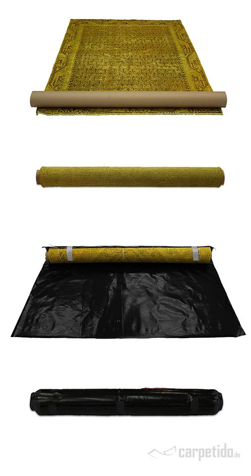 Teppich richtig verpacken: Auf einer Rolle